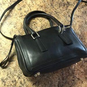 Coach Crossbody Handbag Black Leather